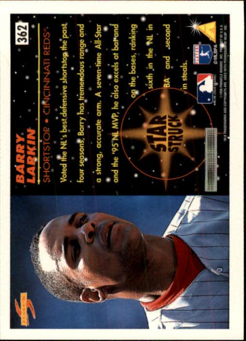 1996 Score #362 Barry Larkin SS back image