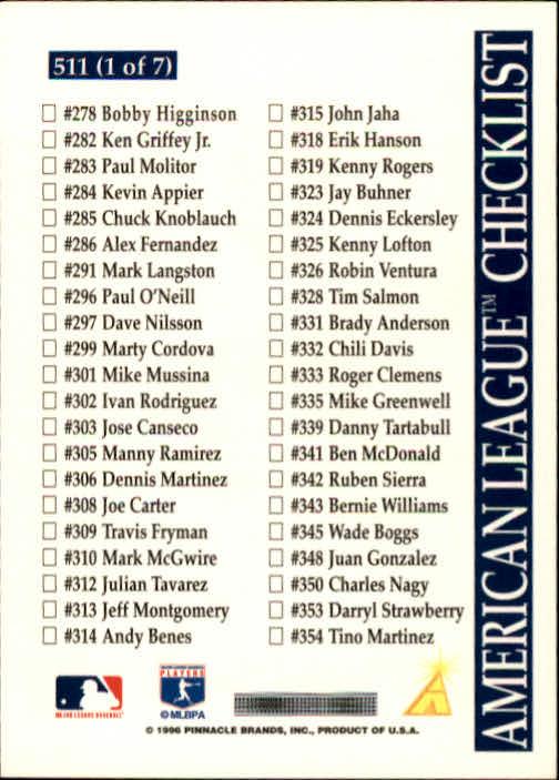 1996-Score-Baseball-501-517-Your-Choice-GOTBASEBALLCARDS thumbnail 23