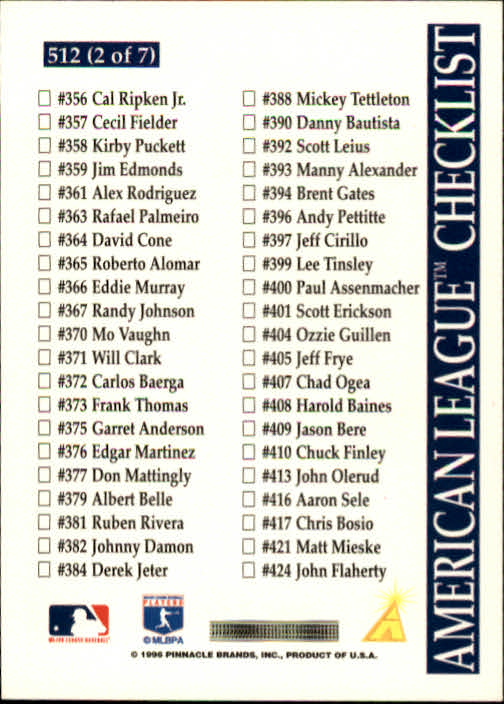 1996-Score-Baseball-501-517-Your-Choice-GOTBASEBALLCARDS thumbnail 25