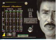 1996 Pinnacle Aficionado #39 Dennis Martinez back image
