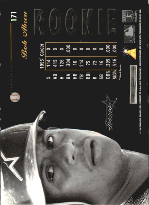 1996 Pinnacle Aficionado Artist's Proofs #171 Bob Abreu back image