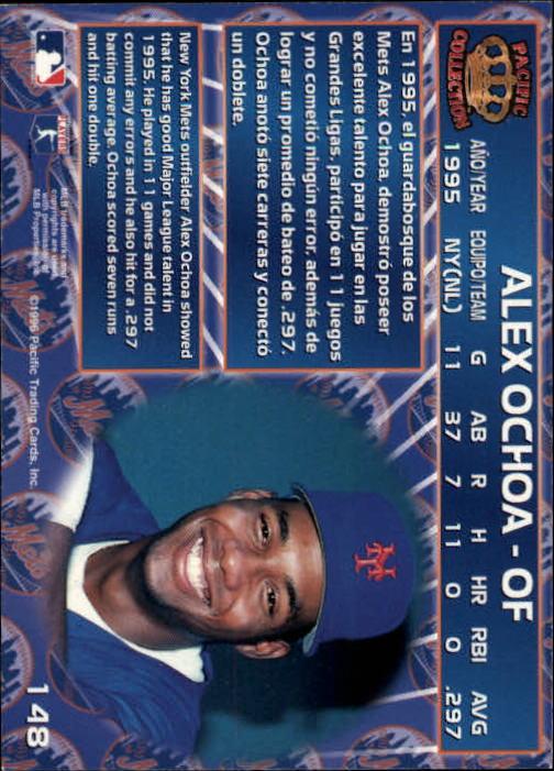 1996 Pacific #148 Alex Ochoa back image