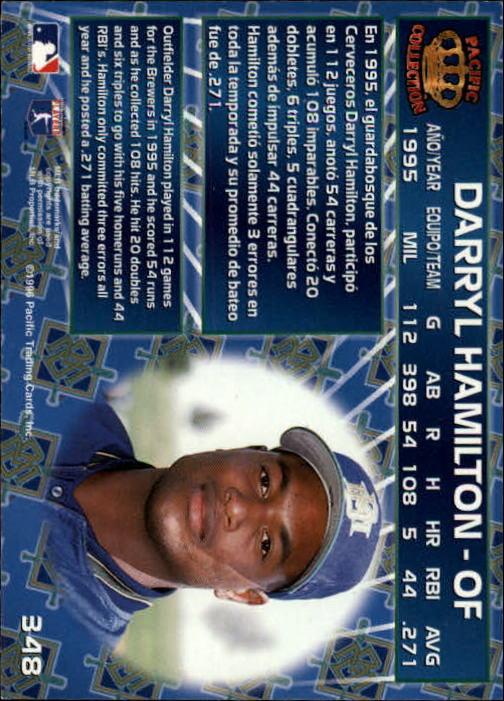 1996 Pacific #348 Darryl Hamilton back image
