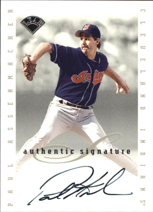 1996 Leaf Signature Extended Autographs #5 Paul Assenmacher