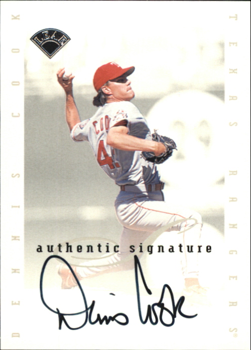 1996 Leaf Signature Extended Autographs #34 Dennis Cook