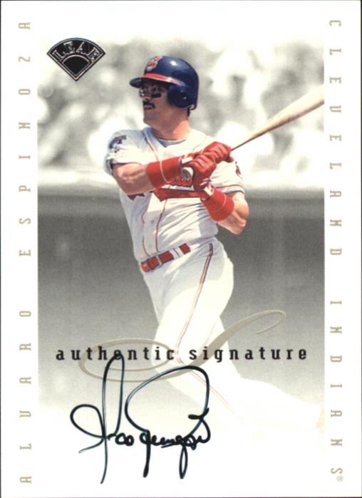 1996 Leaf Signature Extended Autographs #49 Alvaro Espinoza