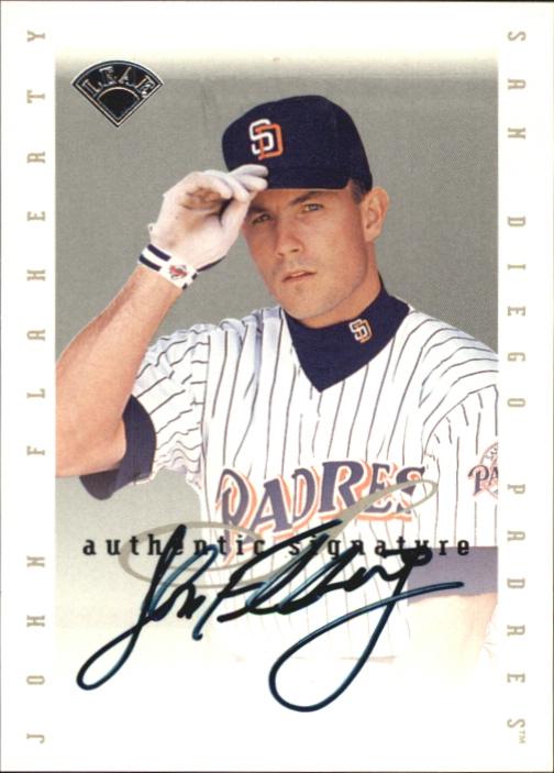 1996 Leaf Signature Extended Autographs #52 John Flaherty