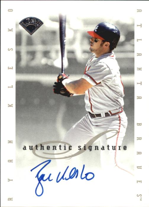 1996 Leaf Signature Extended Autographs #102 Ryan Klesko SP/1000