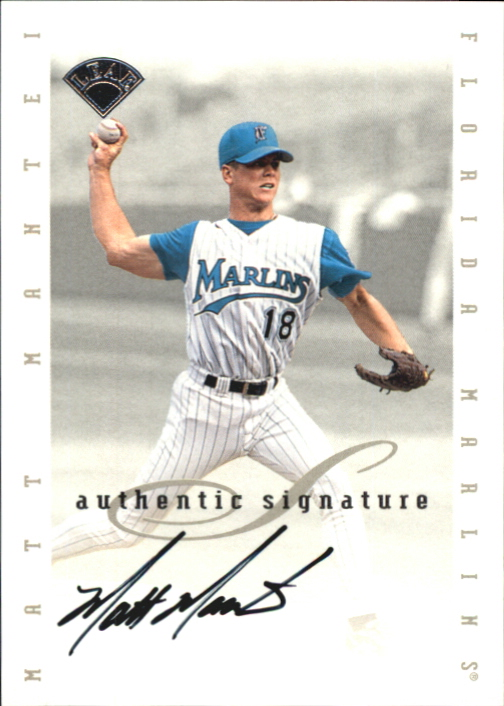 1996 Leaf Signature Extended Autographs #120 Matt Mantei