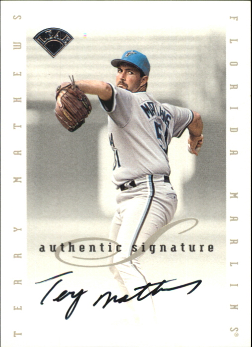 1996 Leaf Signature Extended Autographs #122 Terry Mathews