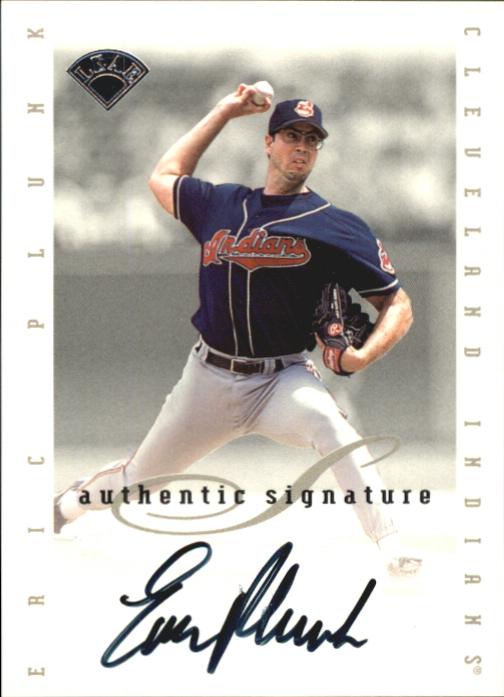1996 Leaf Signature Extended Autographs #161 Eric Plunk