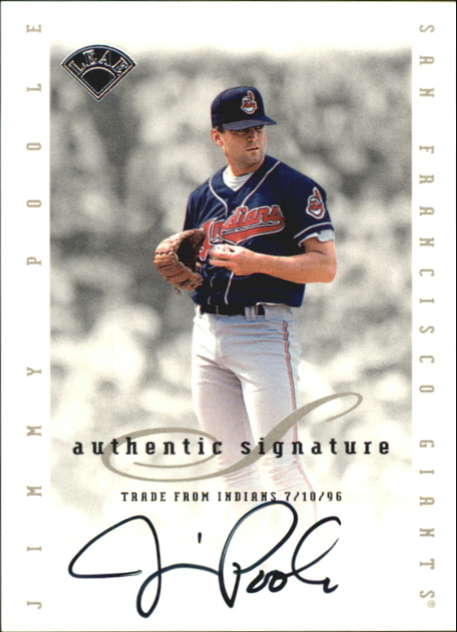 1996 Leaf Signature Extended Autographs #162 Jimmy Poole