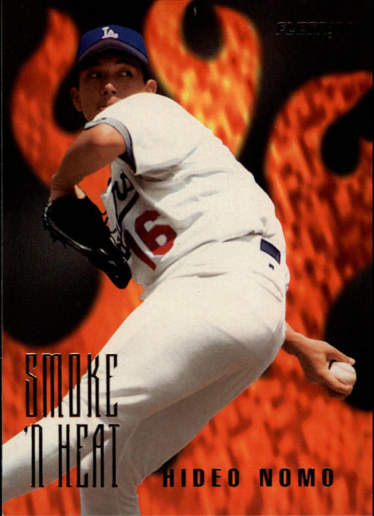 1996 Fleer Smoke 'n Heat #8 Hideo Nomo