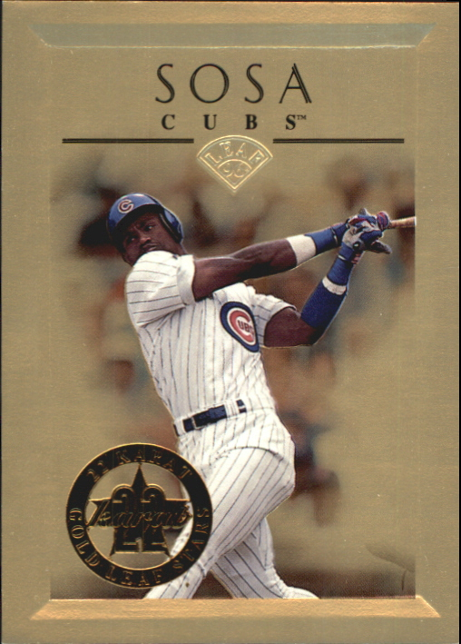1996 Leaf Gold Stars #3 Sammy Sosa