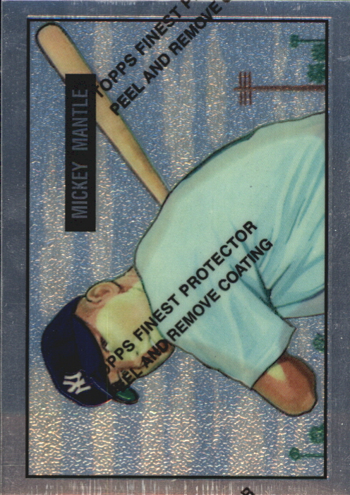 1996 Topps Mantle Finest #1 Mickey Mantle 1951 Bowman