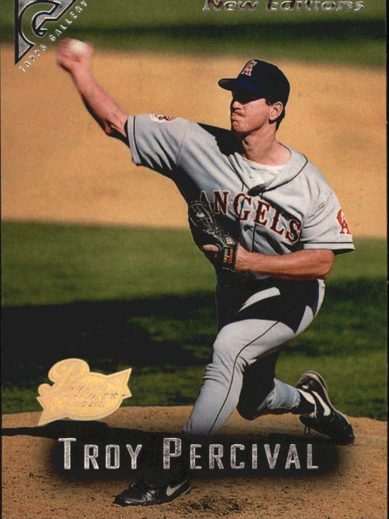 1996 Topps Gallery Players Private Issue #99 Troy Percival