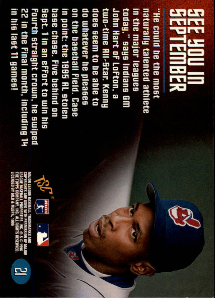 1996 Stadium Club Members Only 50 #21 Kenny Lofton back image