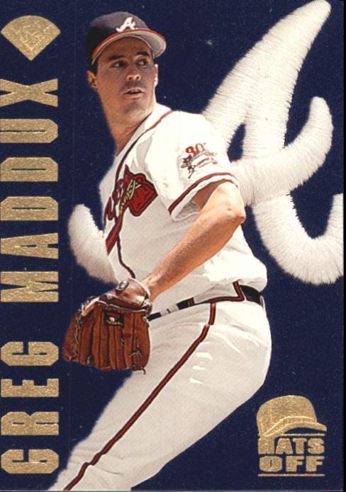 1996 Leaf Hats Off #8 Greg Maddux