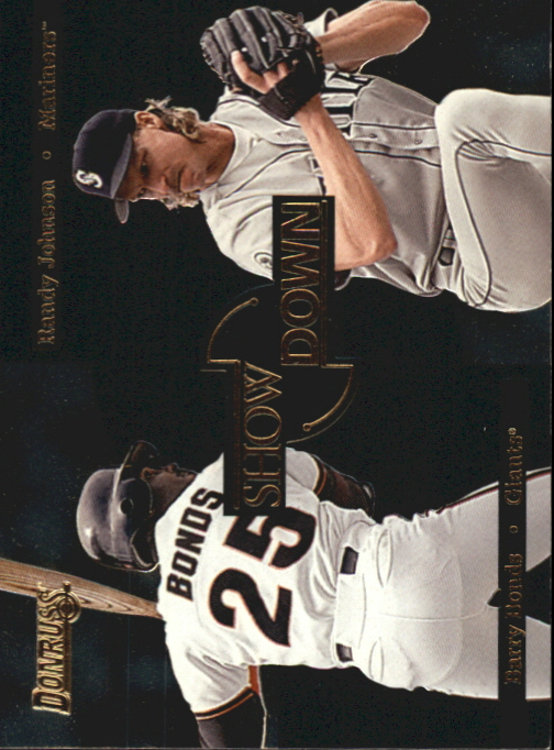1996 Donruss Showdown #2 B.Bonds/R.Johnson