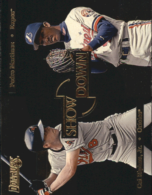 1996 Donruss Showdown #6 C.Ripken/P.Martinez