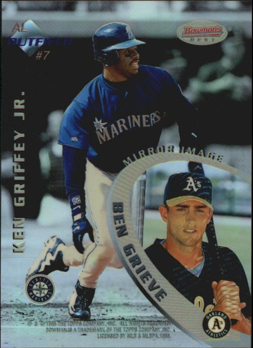 1996 Bowman's Best Mirror Image Refractors #7 Gwynn/Guerrero/Griffey/Grieve