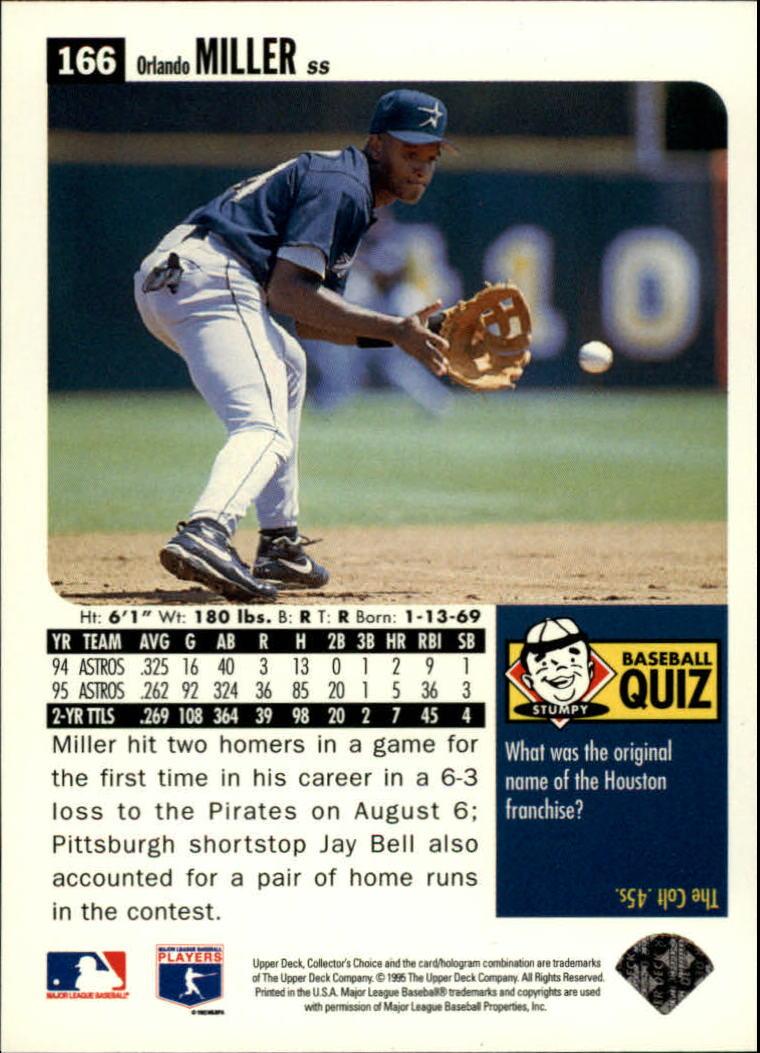1996 Collector's Choice #166 Orlando Miller back image