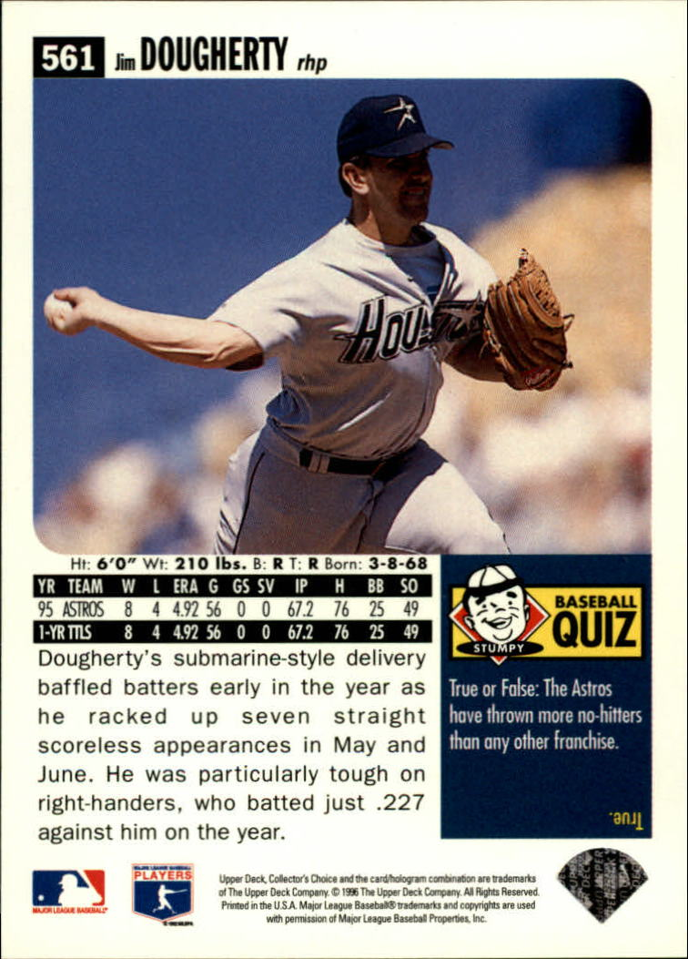 1996 Collector's Choice #561 Jim Dougherty back image