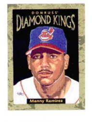 1996 Donruss Diamond Kings #3 Manny Ramirez