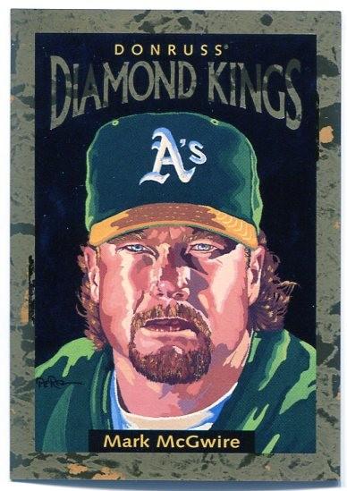 1996 Donruss Diamond Kings #4 Mark McGwire