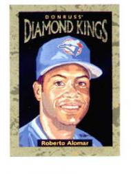1996 Donruss Diamond Kings #6 Roberto Alomar