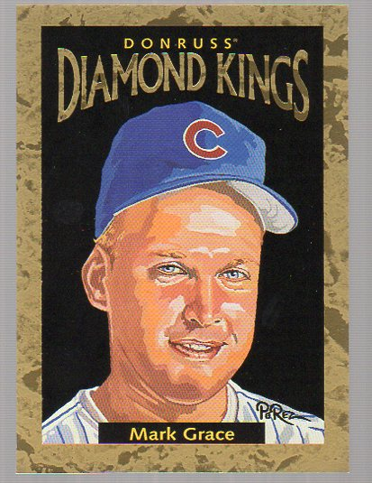 1996 Donruss Diamond Kings #14 Mark Grace