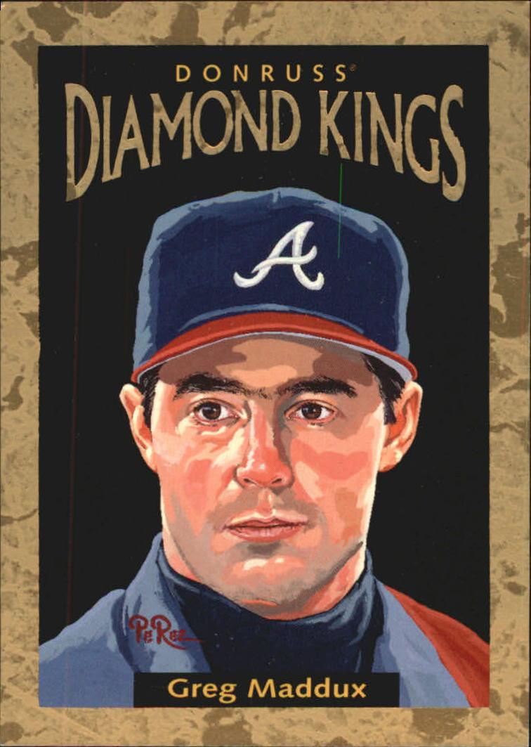 1996 Donruss Diamond Kings #15 Greg Maddux