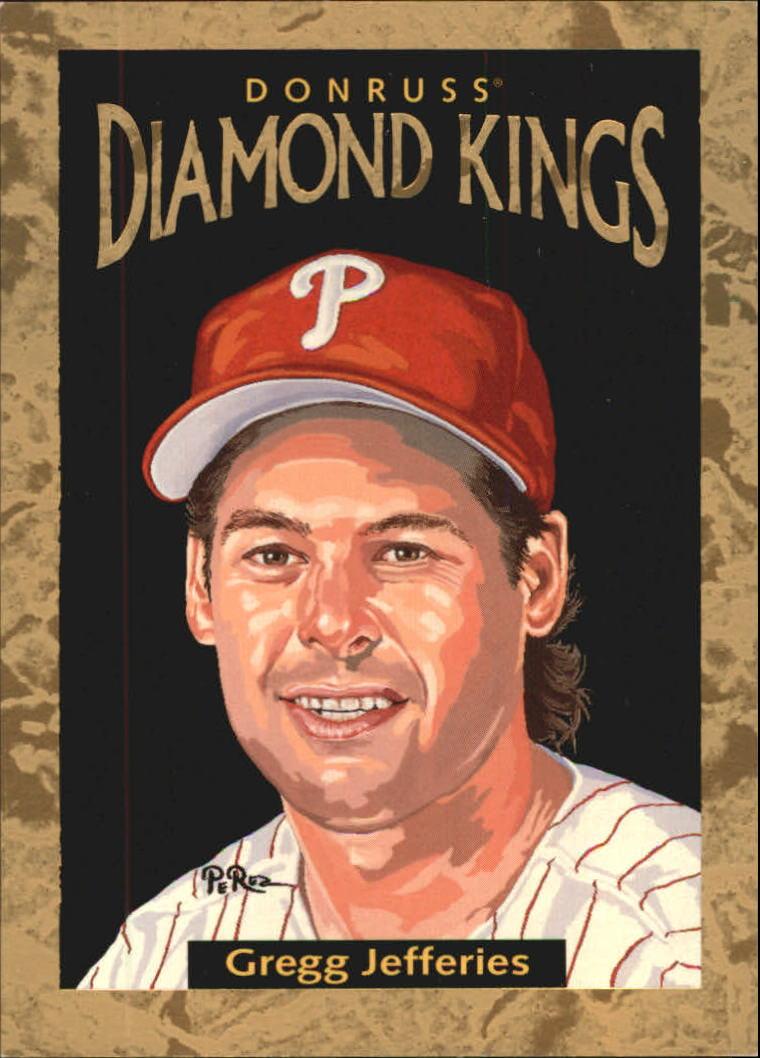 1996 Donruss Diamond Kings #17 Gregg Jefferies