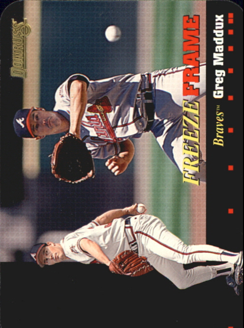 1996 Donruss Freeze Frame #5 Greg Maddux
