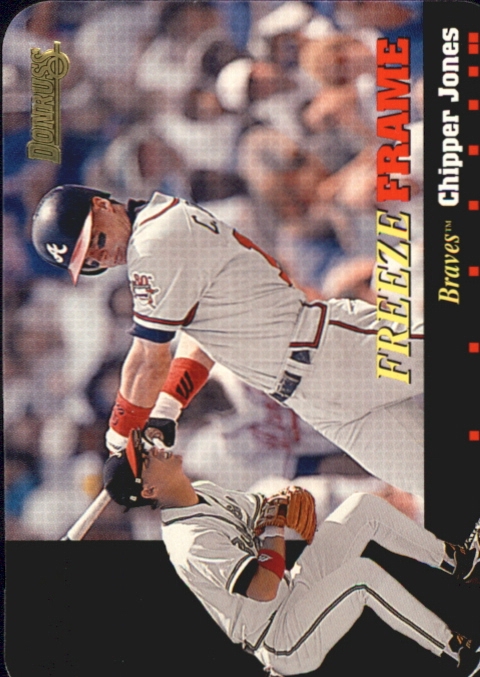 1996 Donruss Freeze Frame #7 Chipper Jones