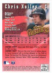 1996 Finest #B108 Chris Hoiles B back image