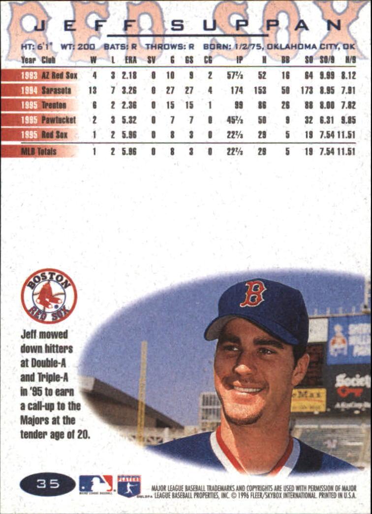 1996 Fleer #35 Jeff Suppan back image