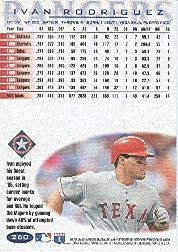 1996 Fleer #260 Ivan Rodriguez back image