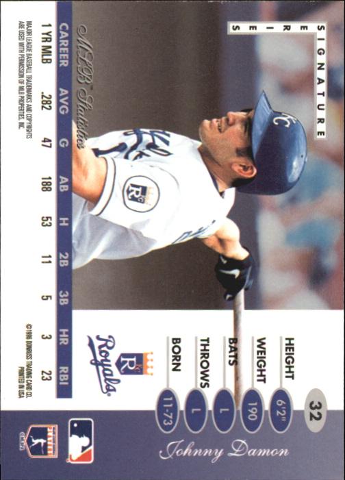 1996 Leaf Signature Gold Press Proofs #32 Johnny Damon back image