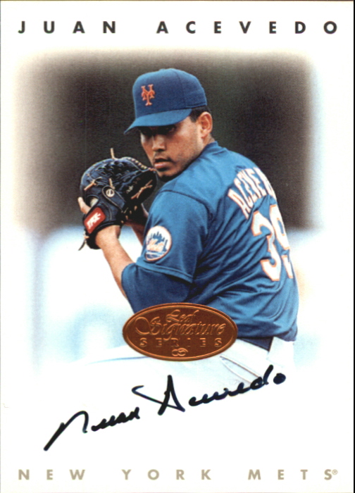 1996 Leaf Signature Autographs #2 Juan Acevedo