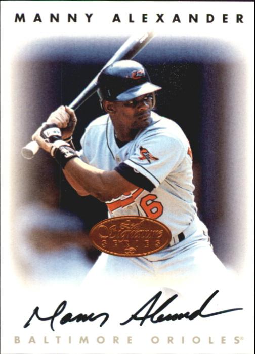 1996 Leaf Signature Autographs #4 Manny Alexander