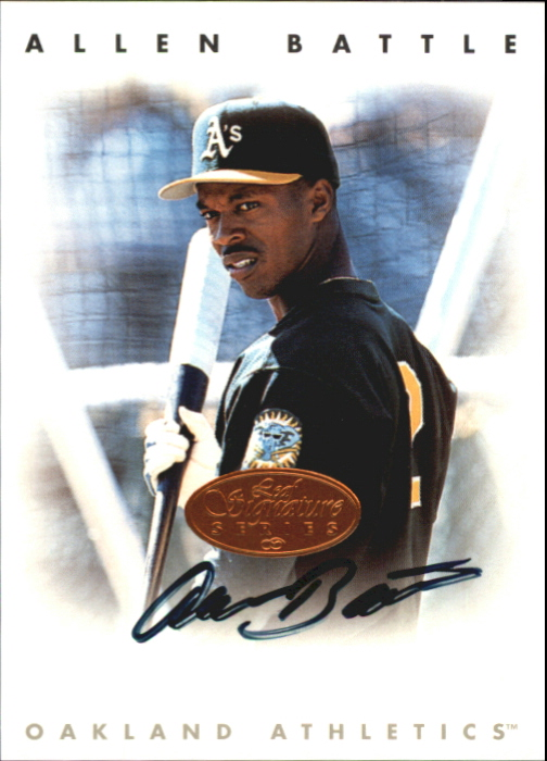 1996 Leaf Signature Autographs #17 Allen Battle