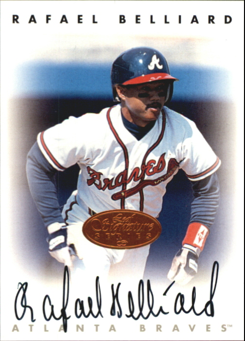 1996 Leaf Signature Autographs #20 Rafael Belliard