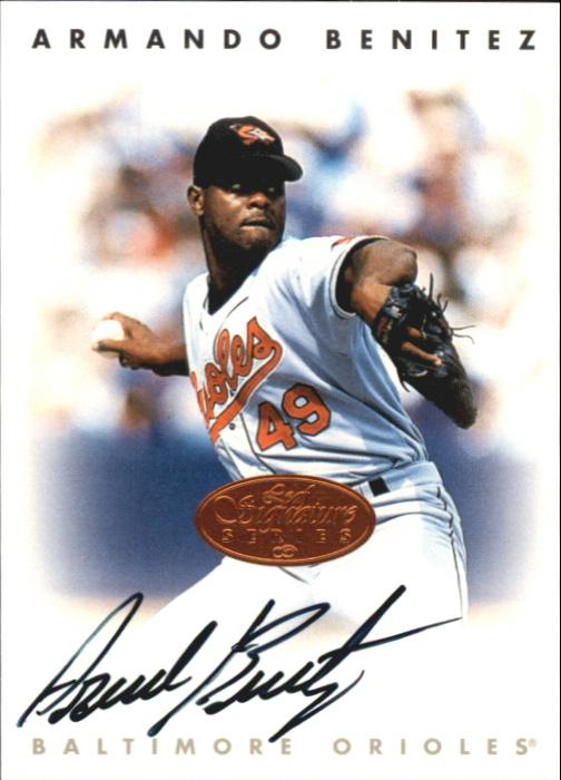 1996 Leaf Signature Autographs #22 Armando Benitez