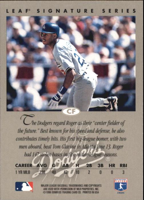 1996 Leaf Signature Autographs #43 Roger Cedeno back image