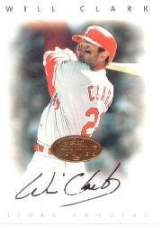 1996 Leaf Signature Autographs #46 Will Clark