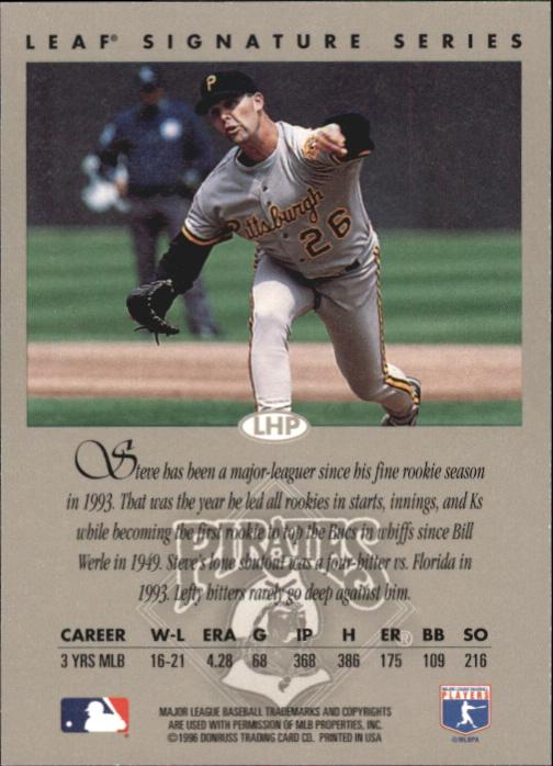 1996 Leaf Signature Autographs #48 Steve Cooke back image