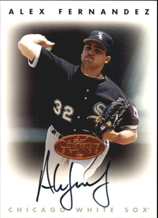 1996 Leaf Signature Autographs #67 Alex Fernandez