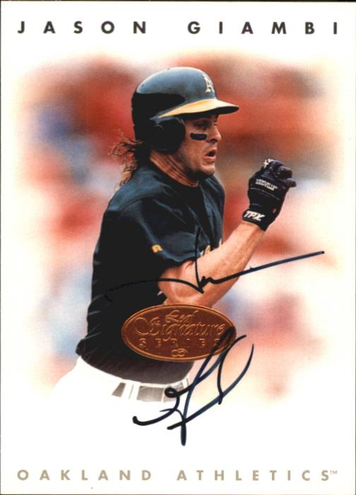 1996 Leaf Signature Autographs #77 Jason Giambi
