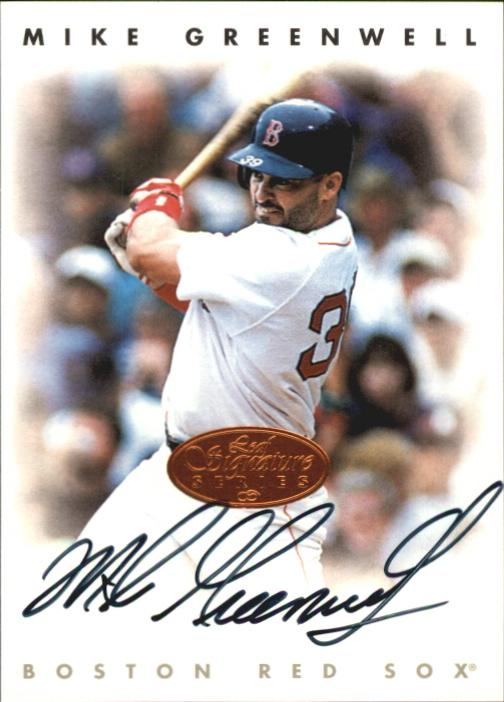 1996 Leaf Signature Autographs #84 Mike Greenwell